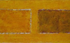 Color field painting: Warm yellow