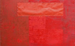 Color Field: The Golden Ratio in red, 200 x 150 cm
