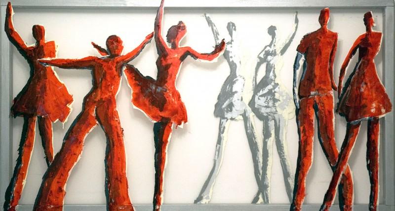 Transparent painting 'Dance' by Hester van Dapperen