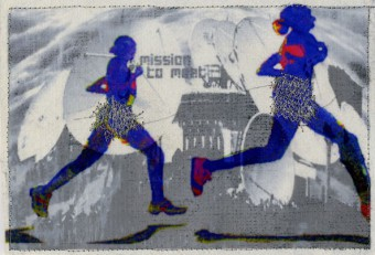 photo collage: marathon, 21 x 14 cm