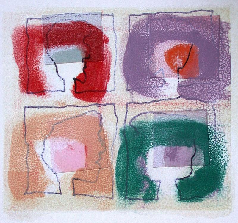 Mono print, 28 x 28 cm