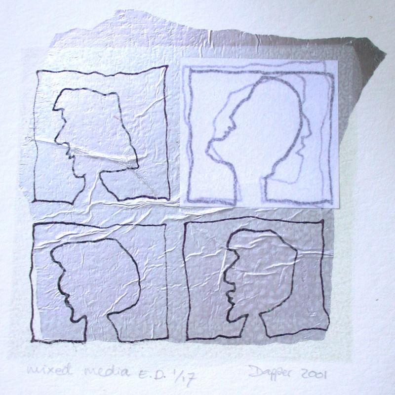 Mono print by Hester van Dapperen