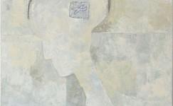 profiel: in wit, 100 x 100 cm