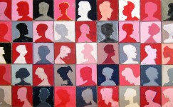 Profile painting by contemporary visual artist Hester van Dapperen