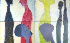 profiel: The invisible wall, 200 x 200 cm