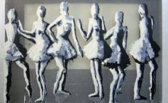 Transparent painting: Dancers, 100 x 80 cm