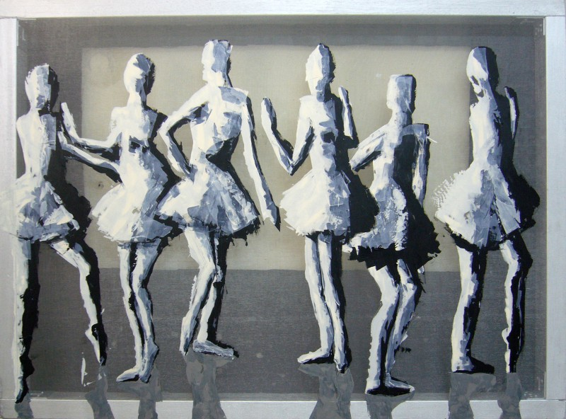 Transparent painting: Dancers, 100 x 80 cm