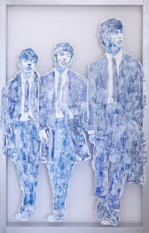 Transparent painting by contemporary visual artist Hester van Dapperen