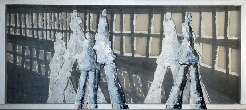 Transparent painting by contemporary visual artist Hester van Dapperen