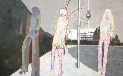 Berlin painting by Hester van Dapperen 160x106x3