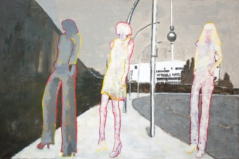 Berlin painting by Hester van Dapperen 160x106x3