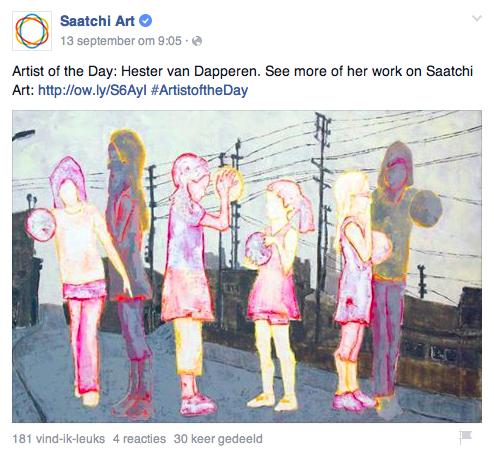 Hester van Dapperen is Artist of the day at Saatchiart.com