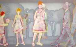 100 year, transparent painting, van Beeldend Kunstenaar Hester van Dapperen