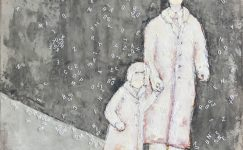 picture of painting of man and child