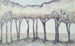 Painting in, trees Hester van Dapperen, Amsterdam The Netherlands
